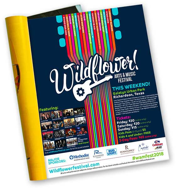 Wildflower Festival Magazine Ad