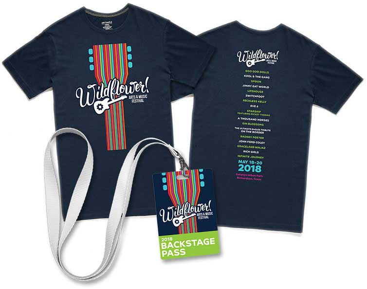 Wildflower Festival tees