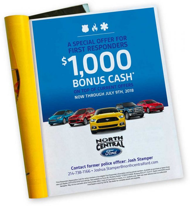 North Central Ford Magazine Ad